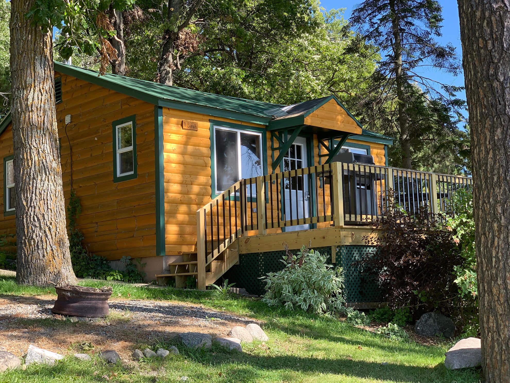 Birch Cabin exterior